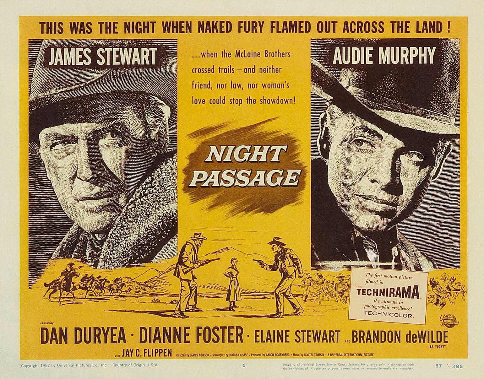dan duryea central  night passage  1957
